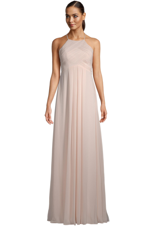 Bill Levkoff PETAL PINK Chiffon Halter A-line gown, $99.00 Front
