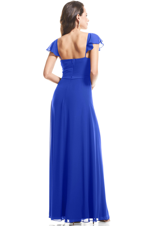 Bill Levkoff HORIZON Chiffon Cap Sleeve A-Line gown, $89.00 Back
