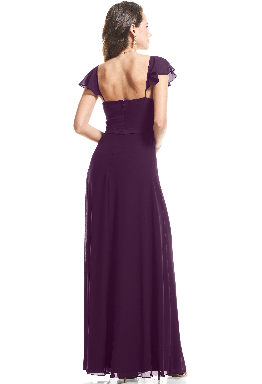 Bill Levkoff PURPLE Chiffon Cap Sleeve A-Line gown, $89.00 Back