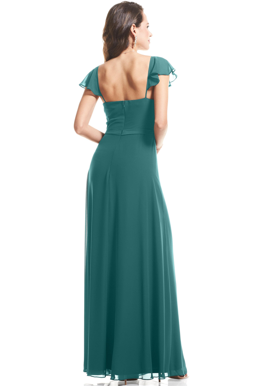 Bill Levkoff OASIS Chiffon Cap Sleeve A-Line gown, $89.00 Back
