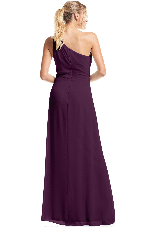 Bill Levkoff PURPLE Chiffon Asymmetrical A-Line gown, $79.00 Back