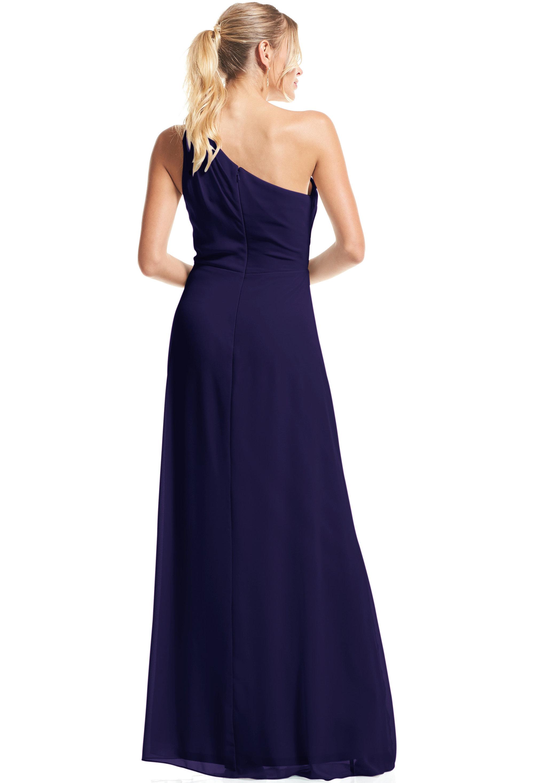 Bill Levkoff MARINE Chiffon Asymmetrical A-Line gown, $79.00 Back