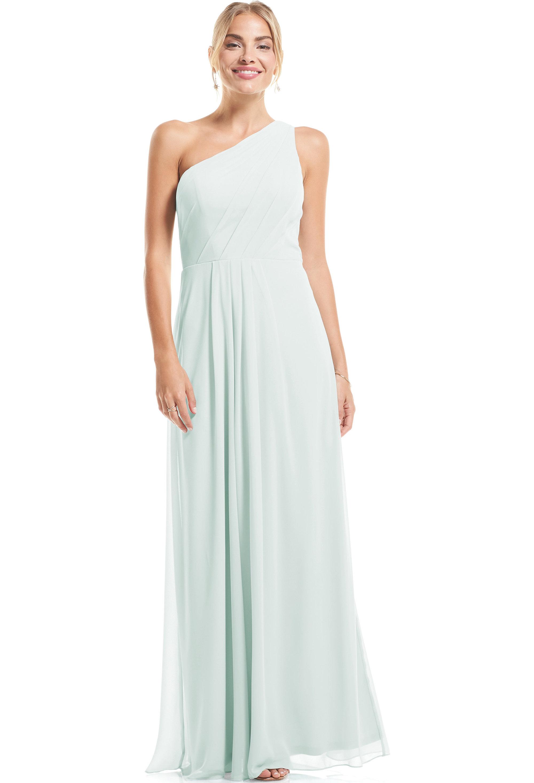 Bill Levkoff SEA FOAM Chiffon Asymmetrical A-Line gown, $79.00 Front