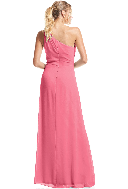 Bill Levkoff ROSEPETAL Chiffon Asymmetrical A-Line gown, $79.00 Back