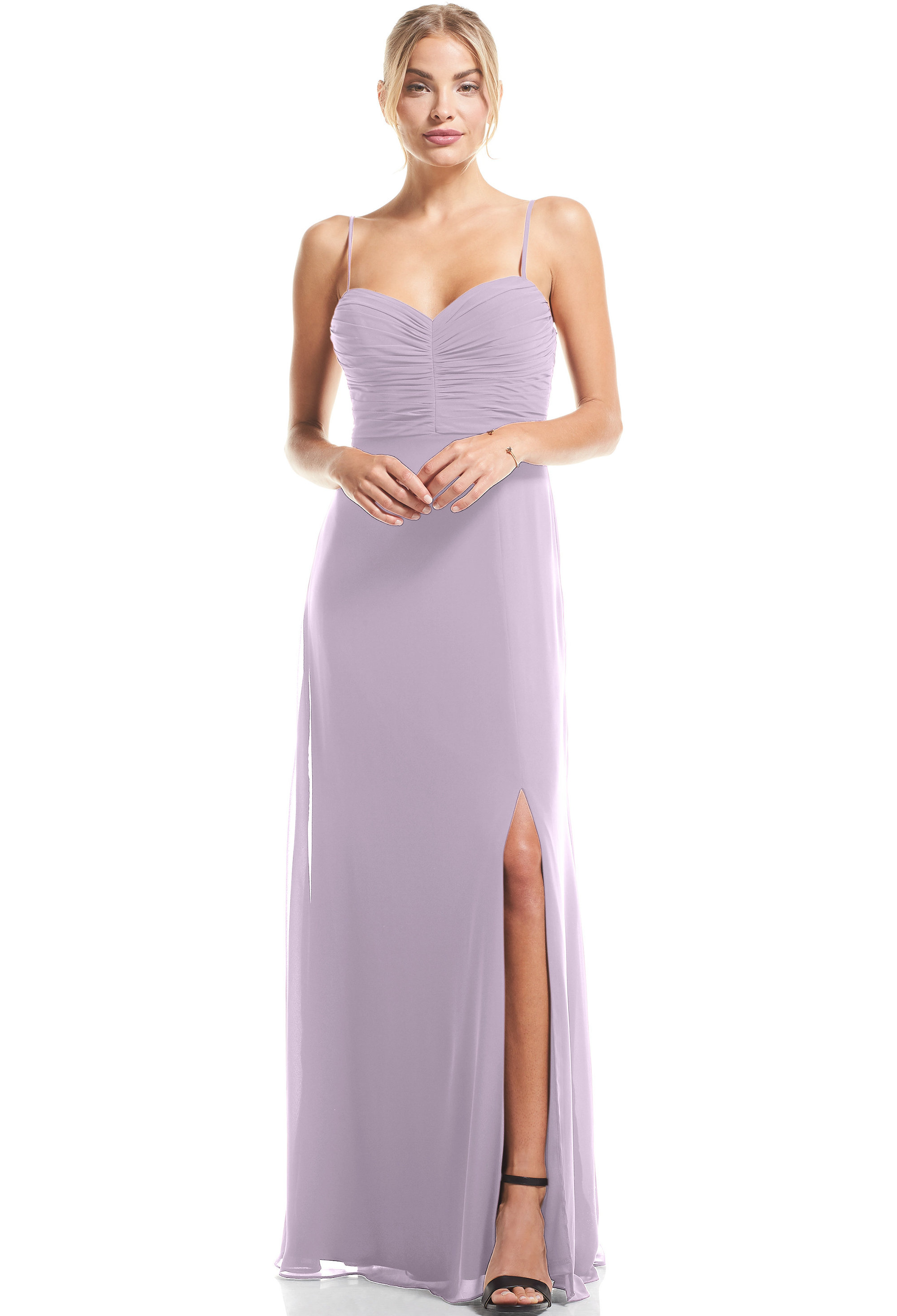 Bill Levkoff VIOLET Chiffon Sweetheart A-Line gown, $79.00 Front