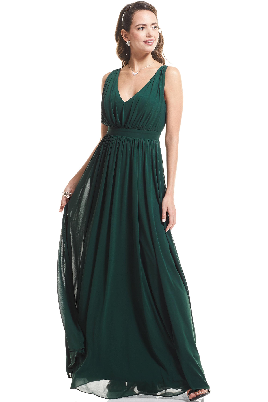 Bill Levkoff CRANBERRY Chiffon V-neck A-Line gown, $89.00 Lifestyle