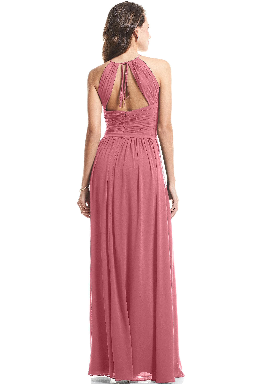 Bill Levkoff ROSEWOOD Chiffon Halter A-Line gown, $89.00 Back