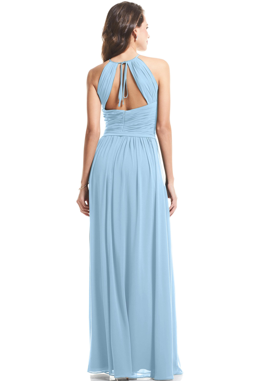 Bill Levkoff CAPRI Chiffon Halter A-Line gown, $89.00 Back