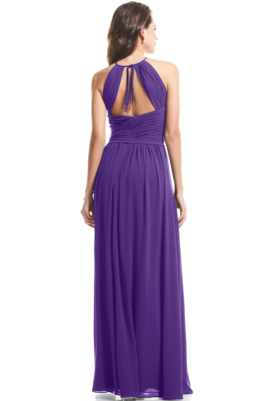 Bill Levkoff REGENCY Chiffon Halter A-Line gown, $89.00 Back