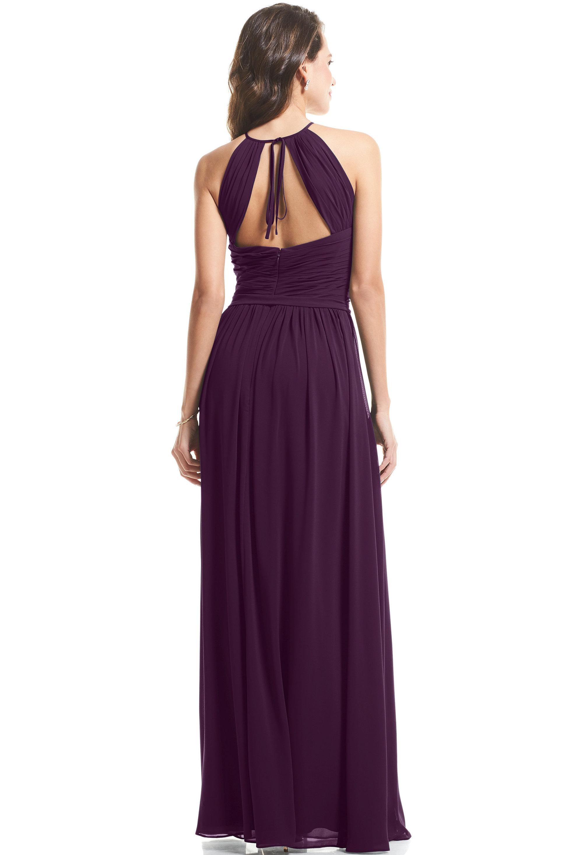 Bill Levkoff PURPLE Chiffon Halter A-Line gown, $89.00 Back