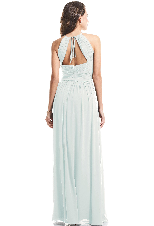 Bill Levkoff SEA FOAM Chiffon Halter A-Line gown, $89.00 Back