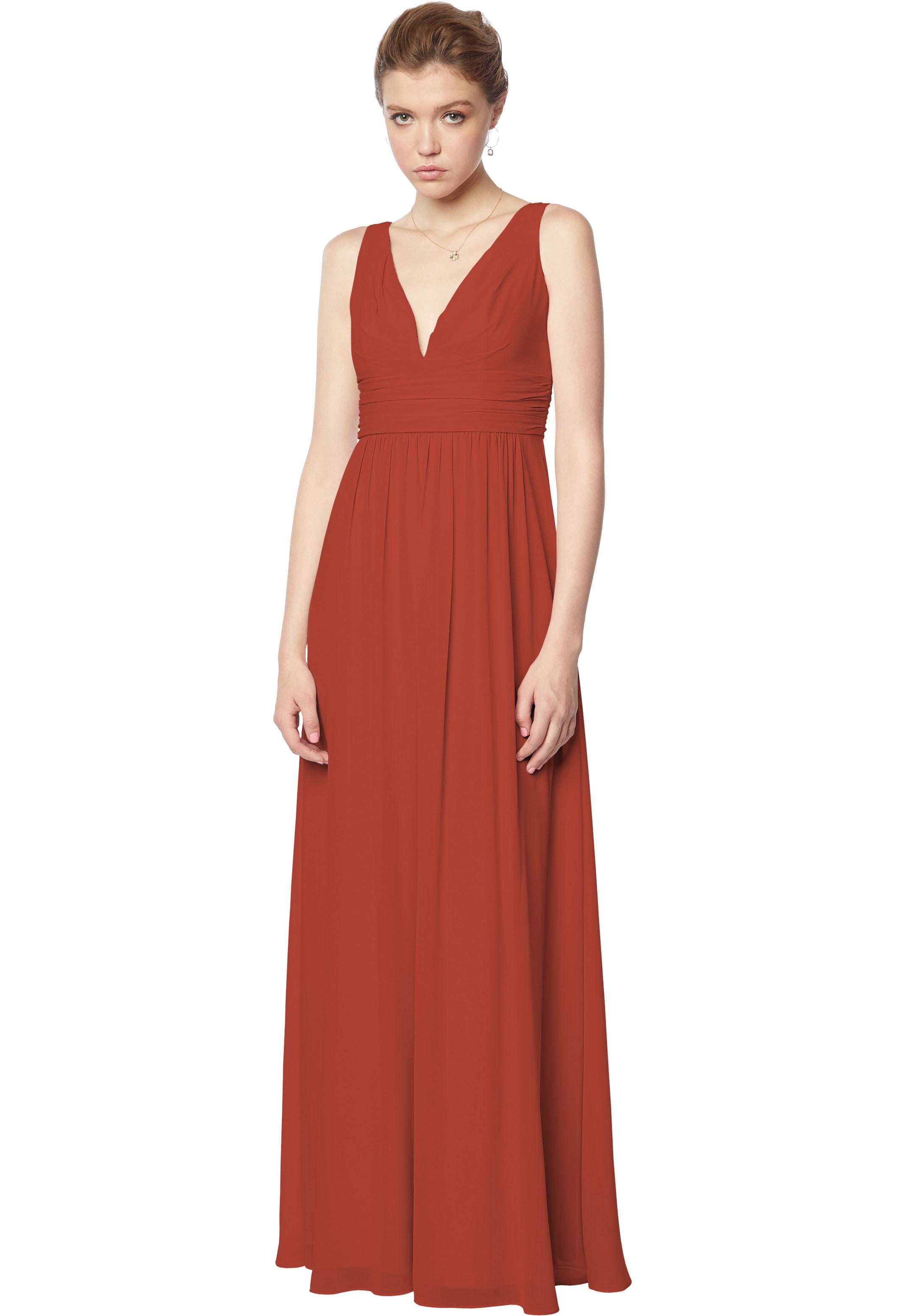 Bill Levkoff RUST Chiffon Sleeveless A-line gown, $170.00 Front
