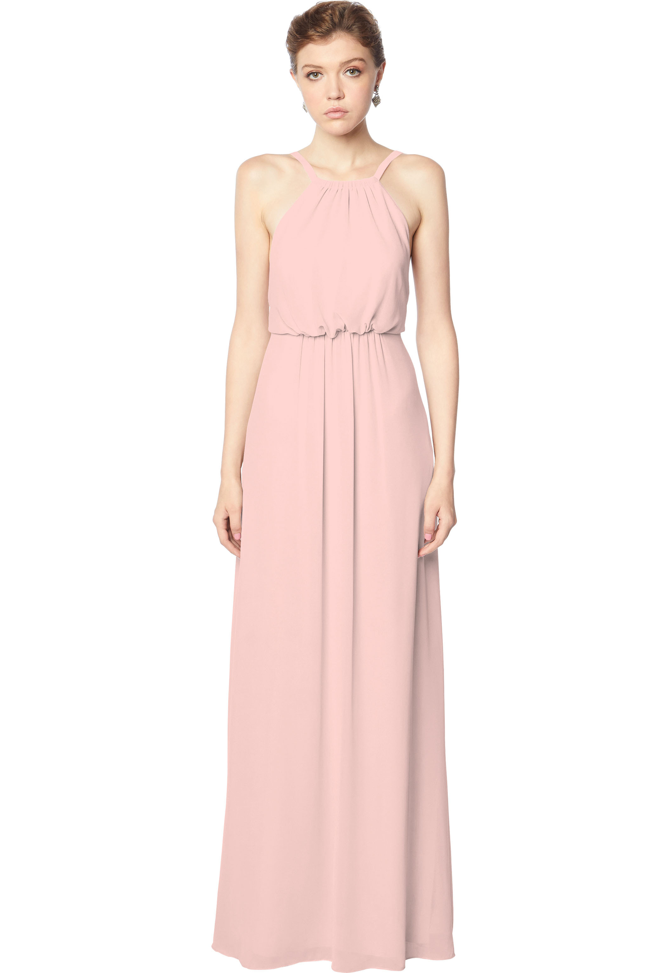 Bill Levkoff FROST ROSE Chiffon Blouson A-line gown, $158.00 Front