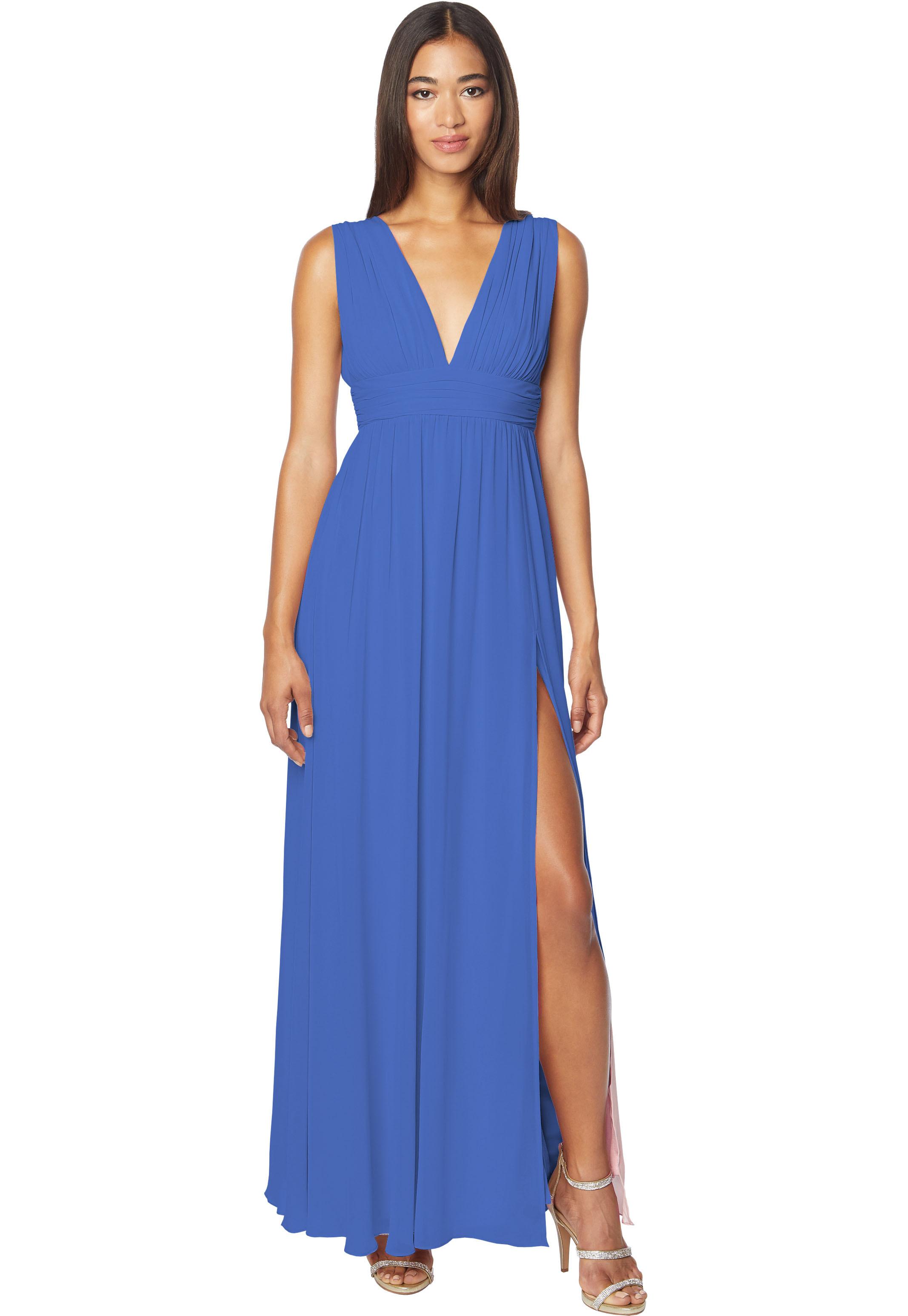 Bill Levkoff HORIZON Chiffon Sleeveless A-line gown, $178.00 Front