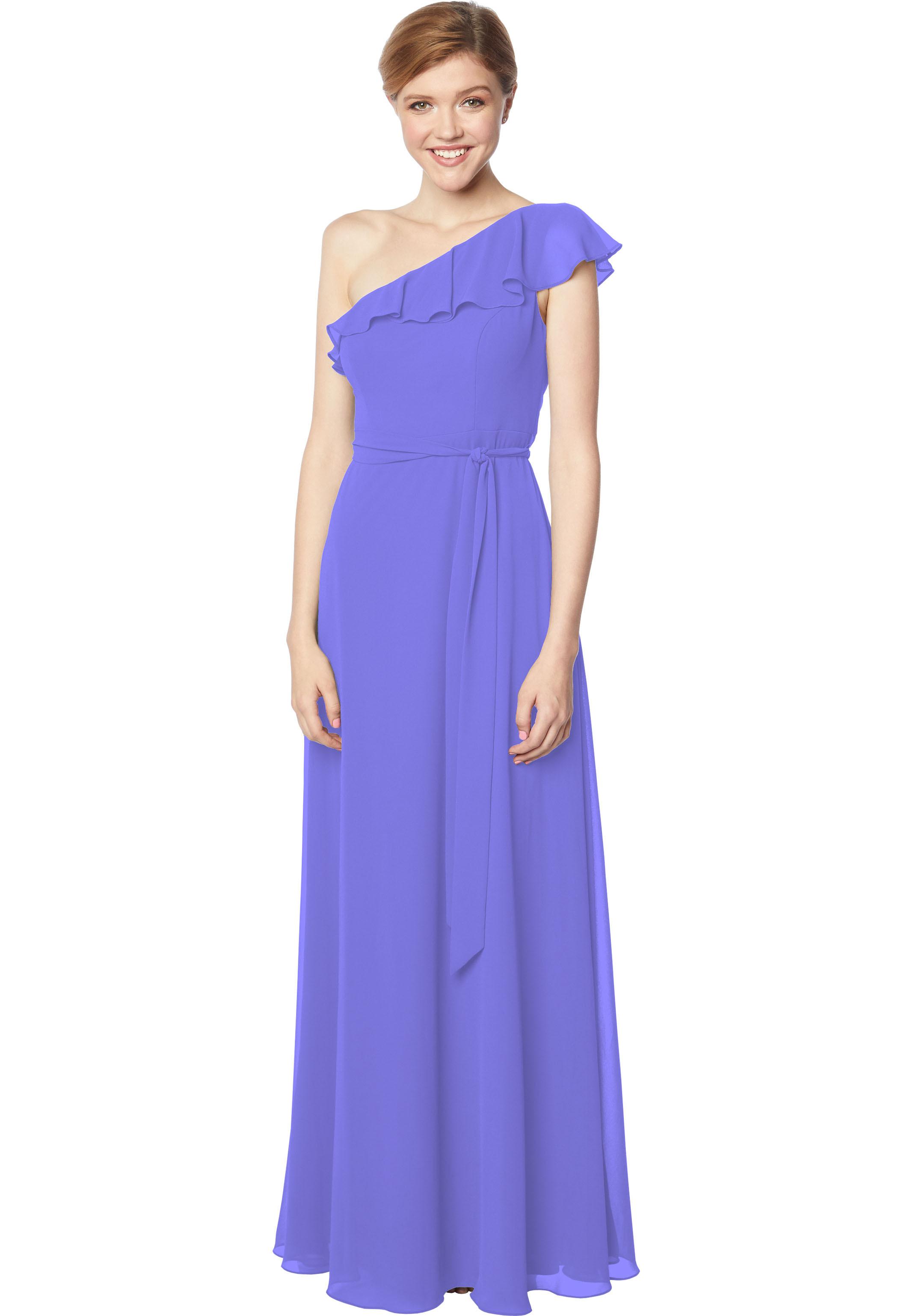 Bill Levkoff REGENCY Chiffon One Shoulder A-line gown, $178.00 Front
