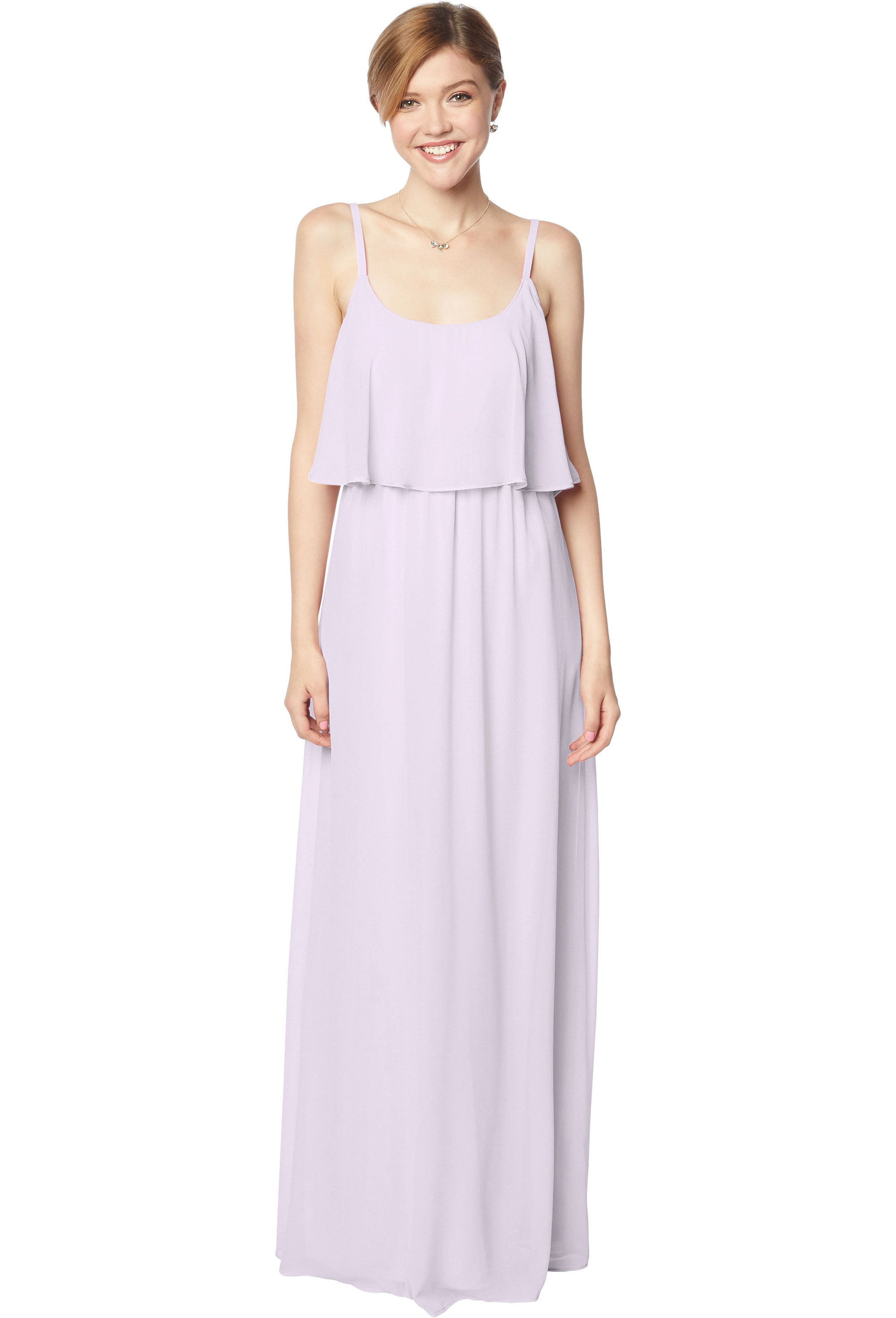 Bill Levkoff VIOLET Chiffon Scoop A-line gown, $170.00 Front