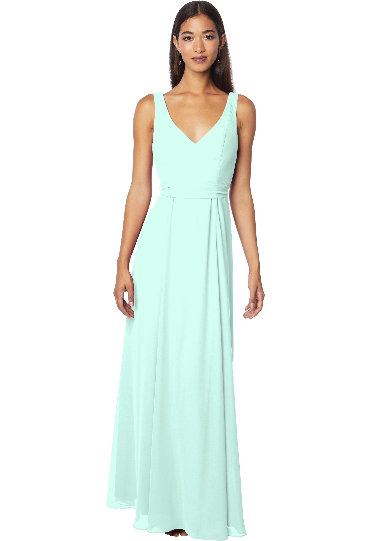 Bill Levkoff MINT Chiffon Sleeveless A-line gown, $178.00 Front