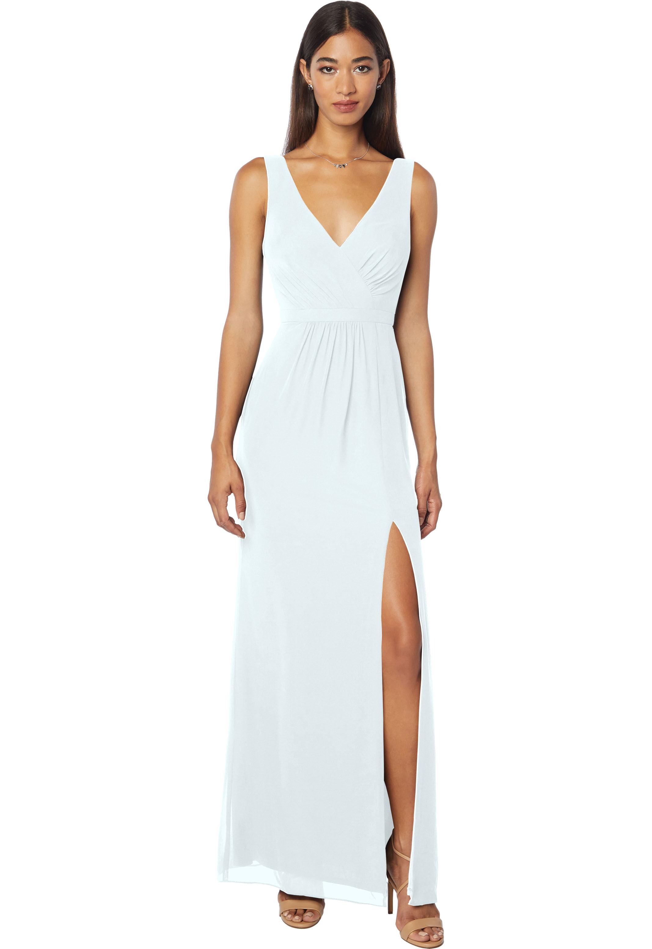 Bill Levkoff PALE BLUE Chiffon Sleeveless Natural Waist gown, $178.00 Front