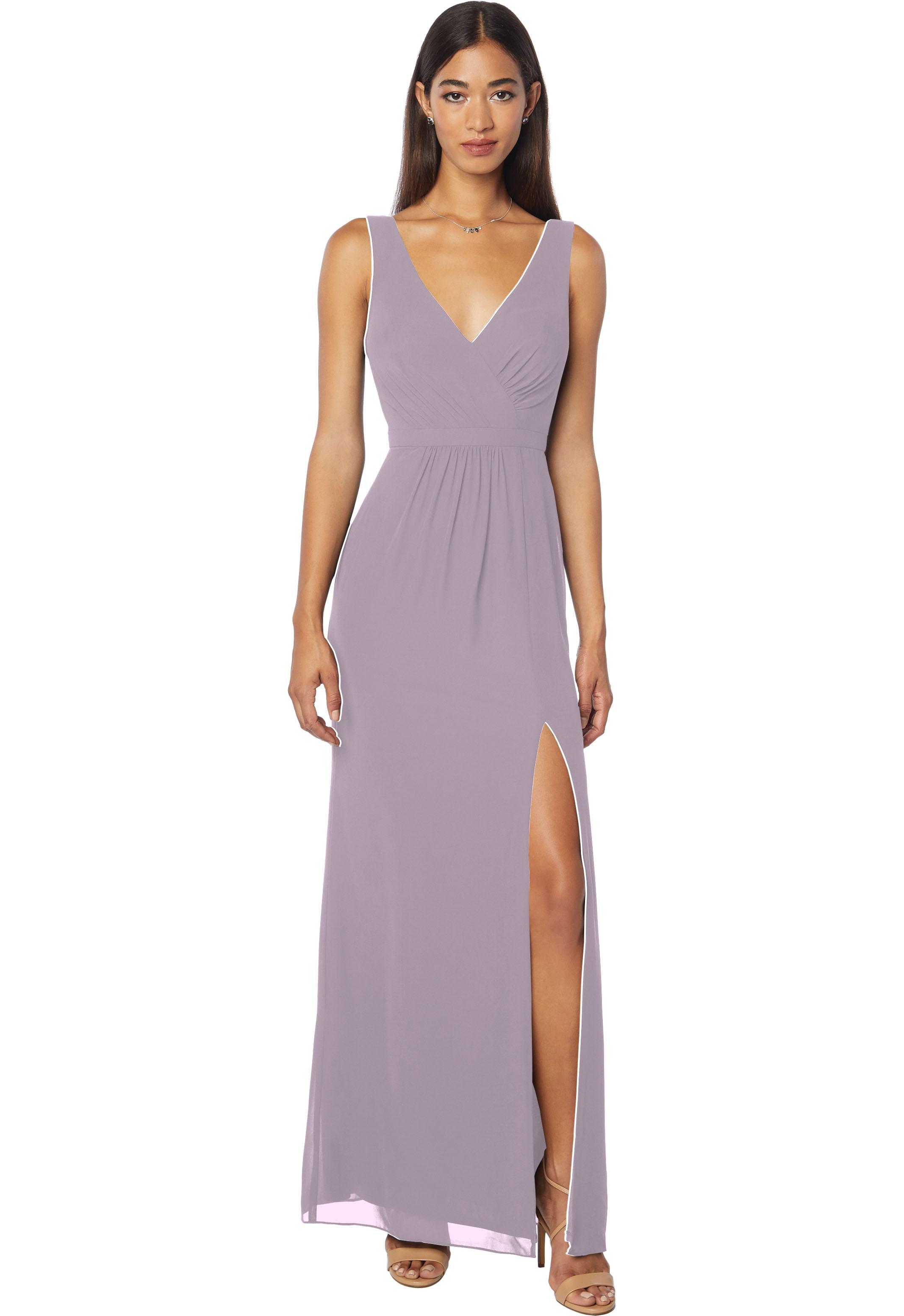 Bill Levkoff HEATHER Chiffon Sleeveless Natural Waist gown, $178.00 Front