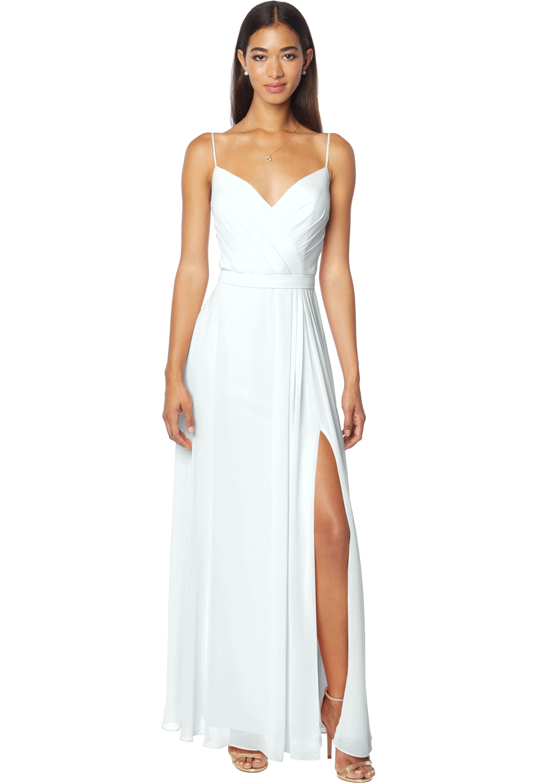 Bill Levkoff MIST Chiffon V-neck A-line gown, $170.00 Front