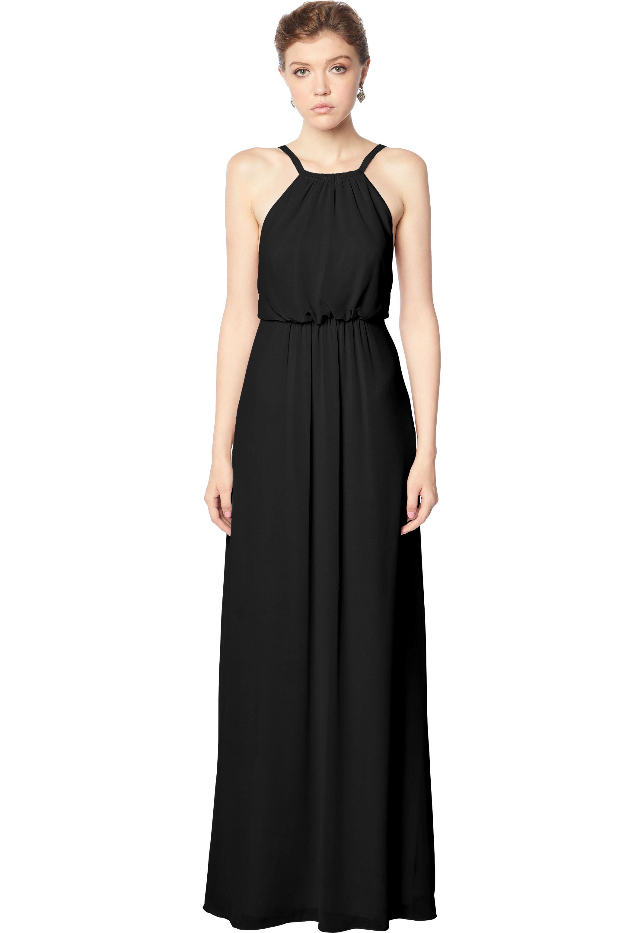 Bill Levkoff BLACK Chiffon Blouson A-line gown, $158.00 Front