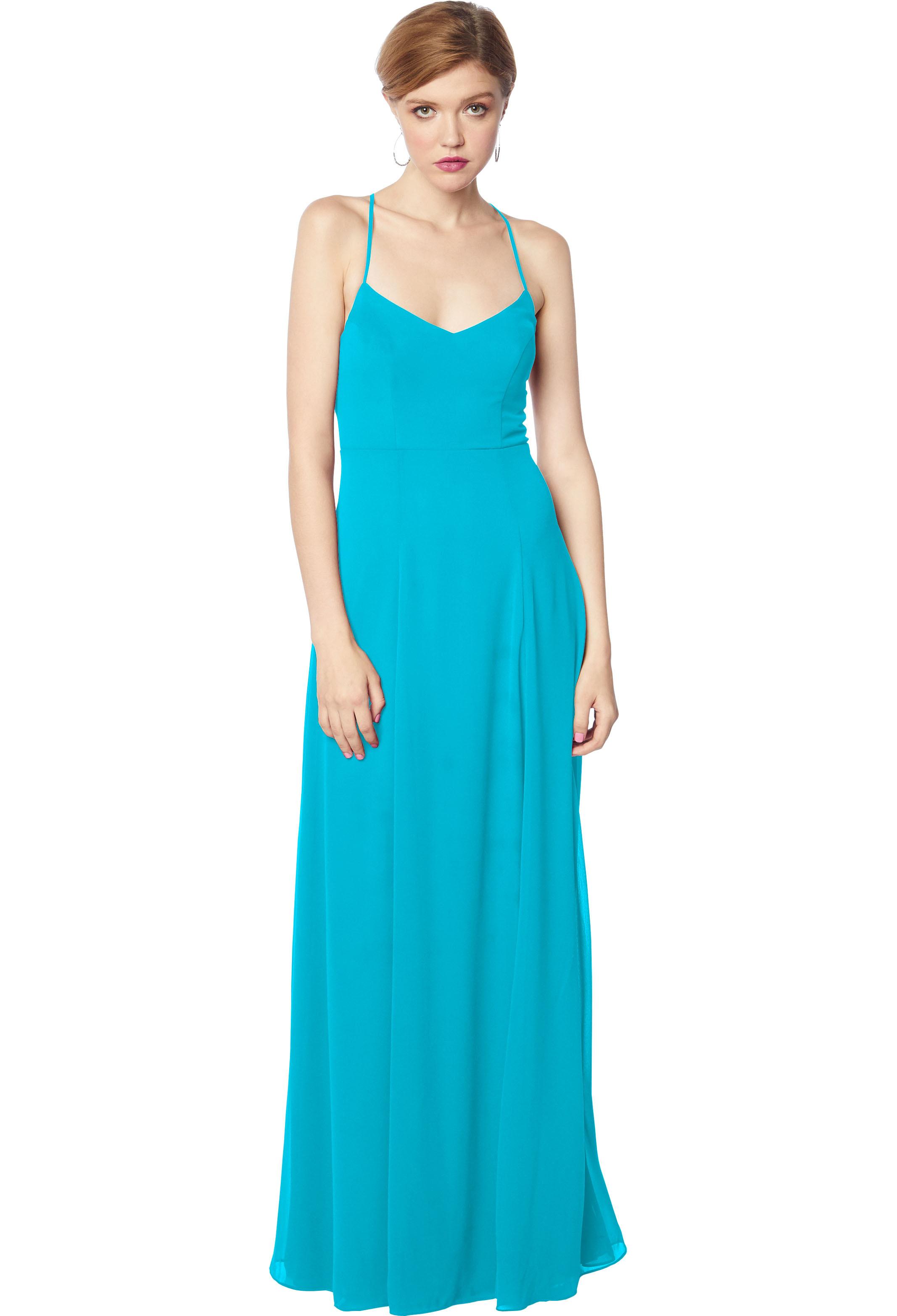 Bill Levkoff OASIS Chiffon V-neck Natural Waist gown, $170.00 Front