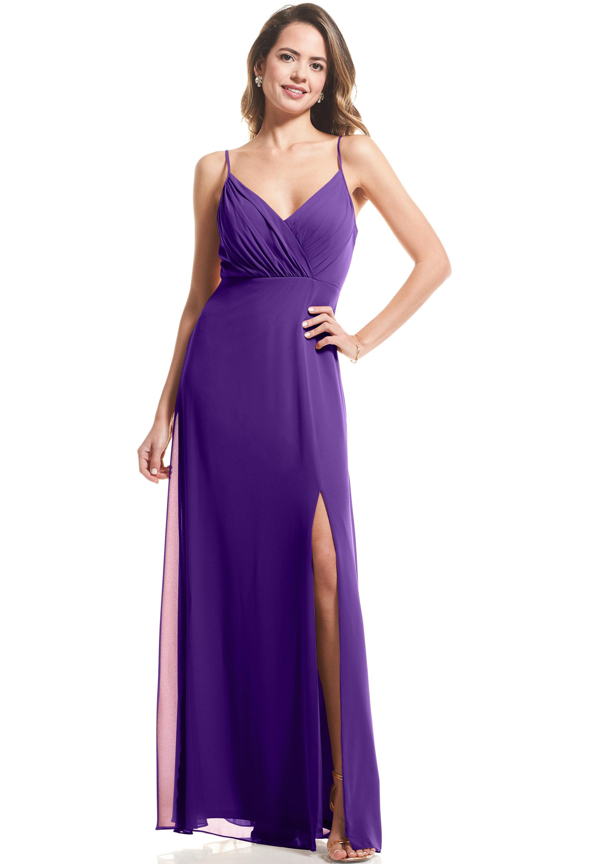 Bill Levkoff REGENCY Chiffon Surplice A-Line gown, $89.00 Front