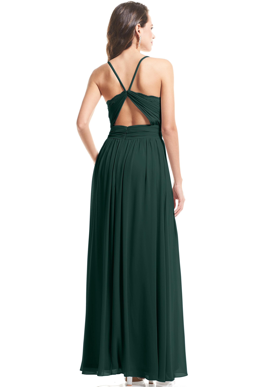Bill Levkoff EVERGREEN Stretch Velvet Surplice A-Line gown, $99.00 Back