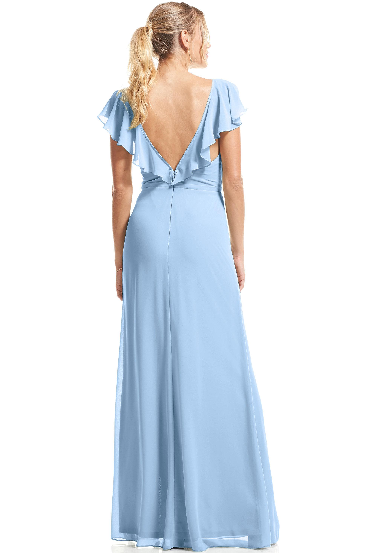 Bill Levkoff CAPRI Chiffon Flutter Sleeve A-Line gown, $89.00 Back