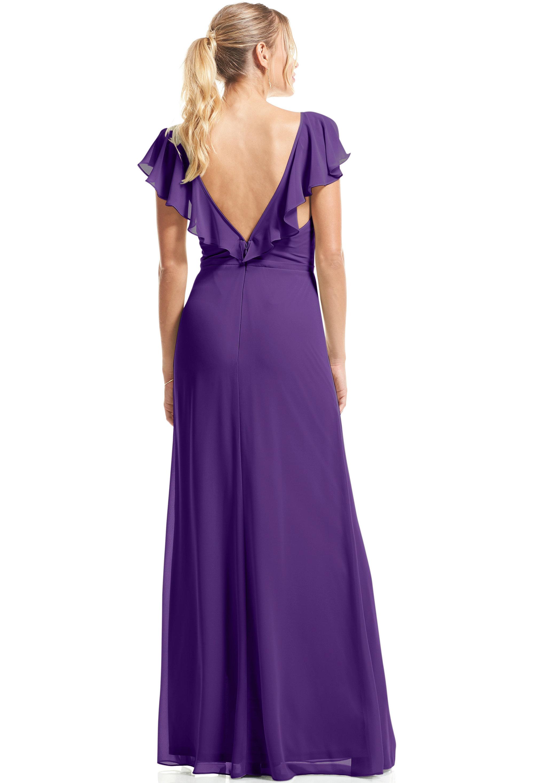 Bill Levkoff REGENCY Chiffon Flutter Sleeve A-Line gown, $89.00 Back