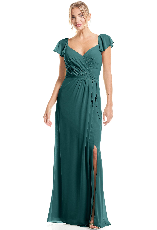 Bill Levkoff OASIS Chiffon Flutter Sleeve A-Line gown, $89.00 Front
