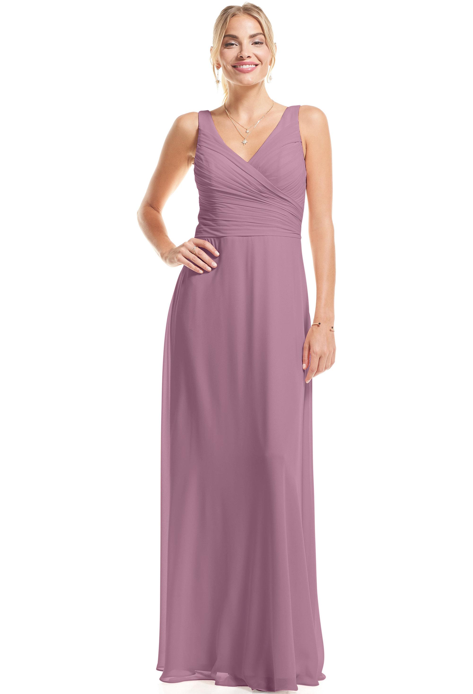 Bill Levkoff WISTERIA Chiffon Surplice A-Line gown, $89.00 Front