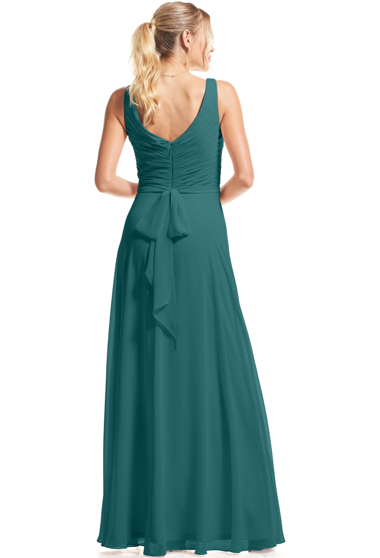 Bill Levkoff OASIS Chiffon Surplice A-Line gown, $89.00 Back