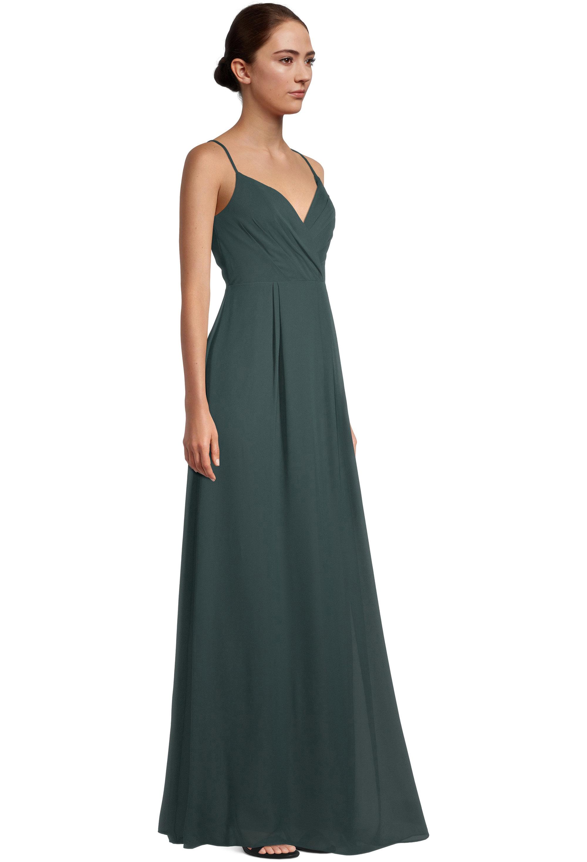 Bill Levkoff EVERGREEN Chiffon V-neck A-line gown, $99.00 Back