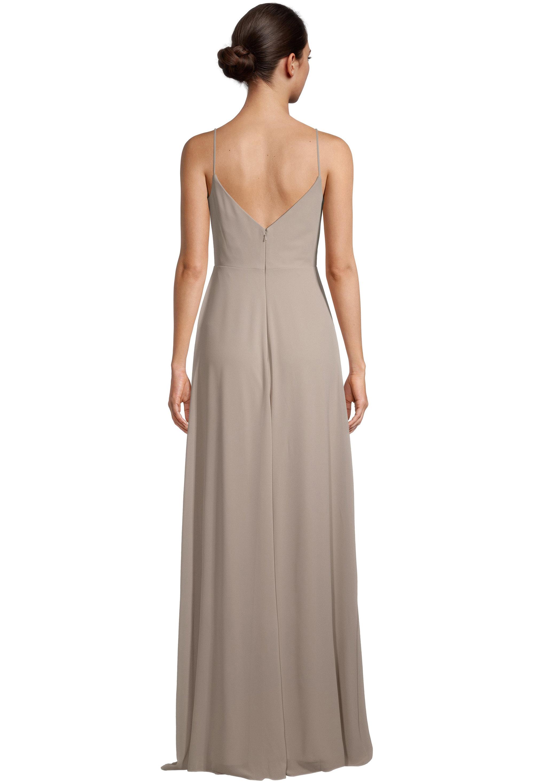 Bill Levkoff CASHMERE Chiffon V-neck A-line gown, $99.00 Back