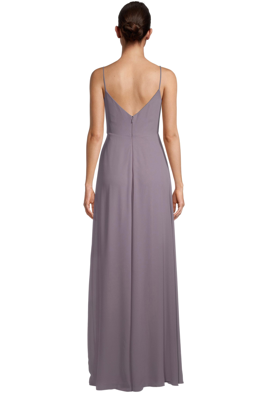 Bill Levkoff HEATHER Chiffon V-neck A-line gown, $99.00 Back