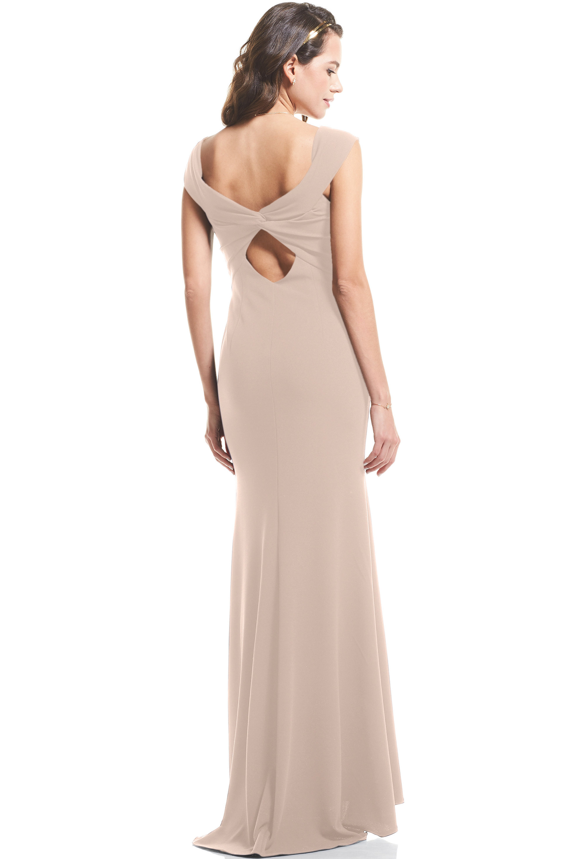 Bill Levkoff NUDE Stretch Crepe Sweetheart Mermaid gown, $99.00 Back