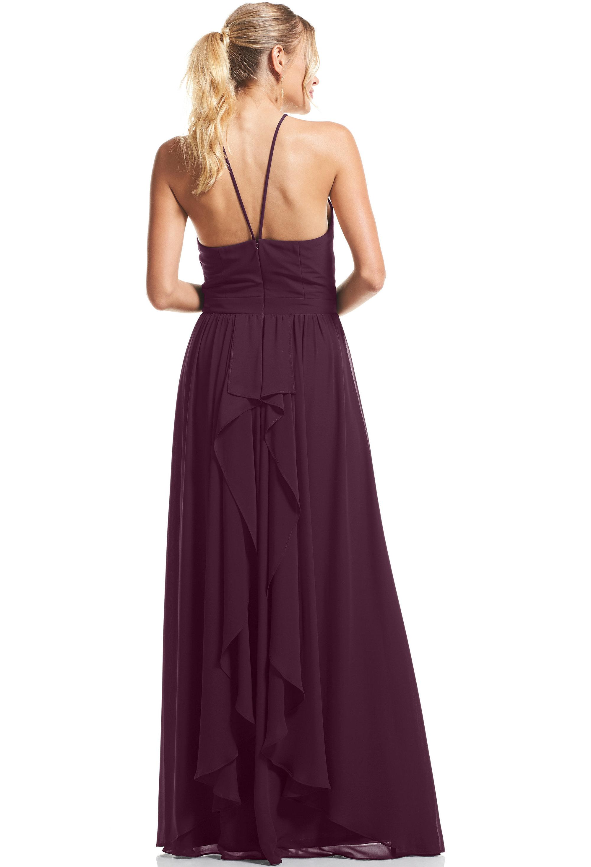 Bill Levkoff EGGPLANT Chiffon Halter A-Line gown, $89.00 Back
