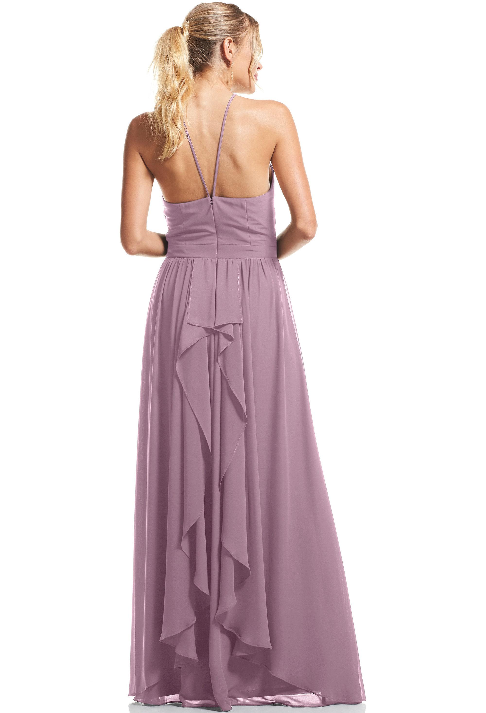 Bill Levkoff HEATHER Chiffon Halter A-Line gown, $89.00 Back