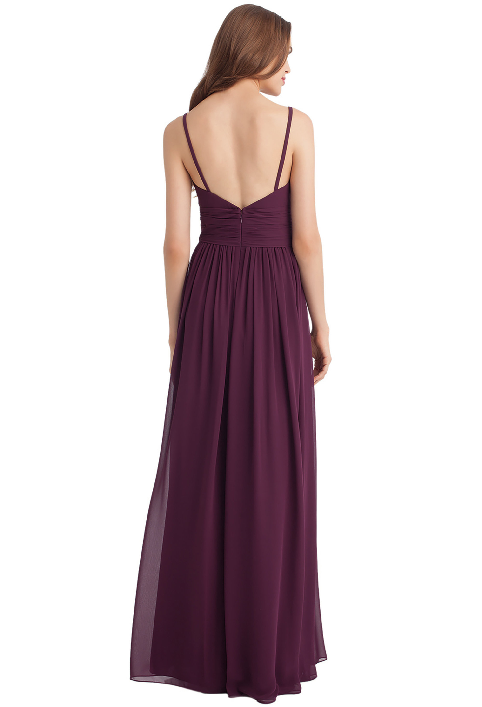 Bill Levkoff HORIZON Chiffon Sweetheart A-line gown, $216.00 Back