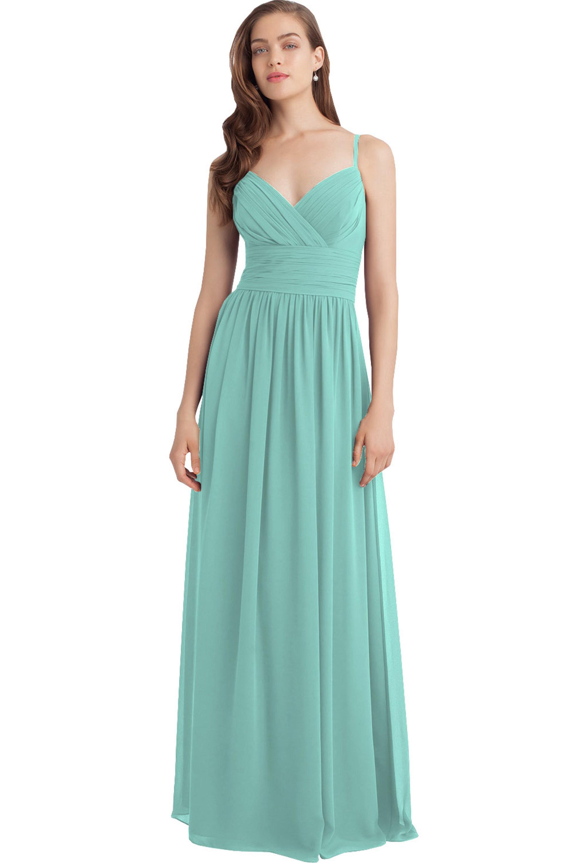 Bill Levkoff GLACIER Chiffon Sweetheart A-line gown, $216.00 Front