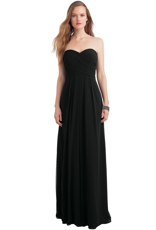 Bill Levkoff BLACK Chiffon Sweetheart Floor Length gown, $216.00 Front