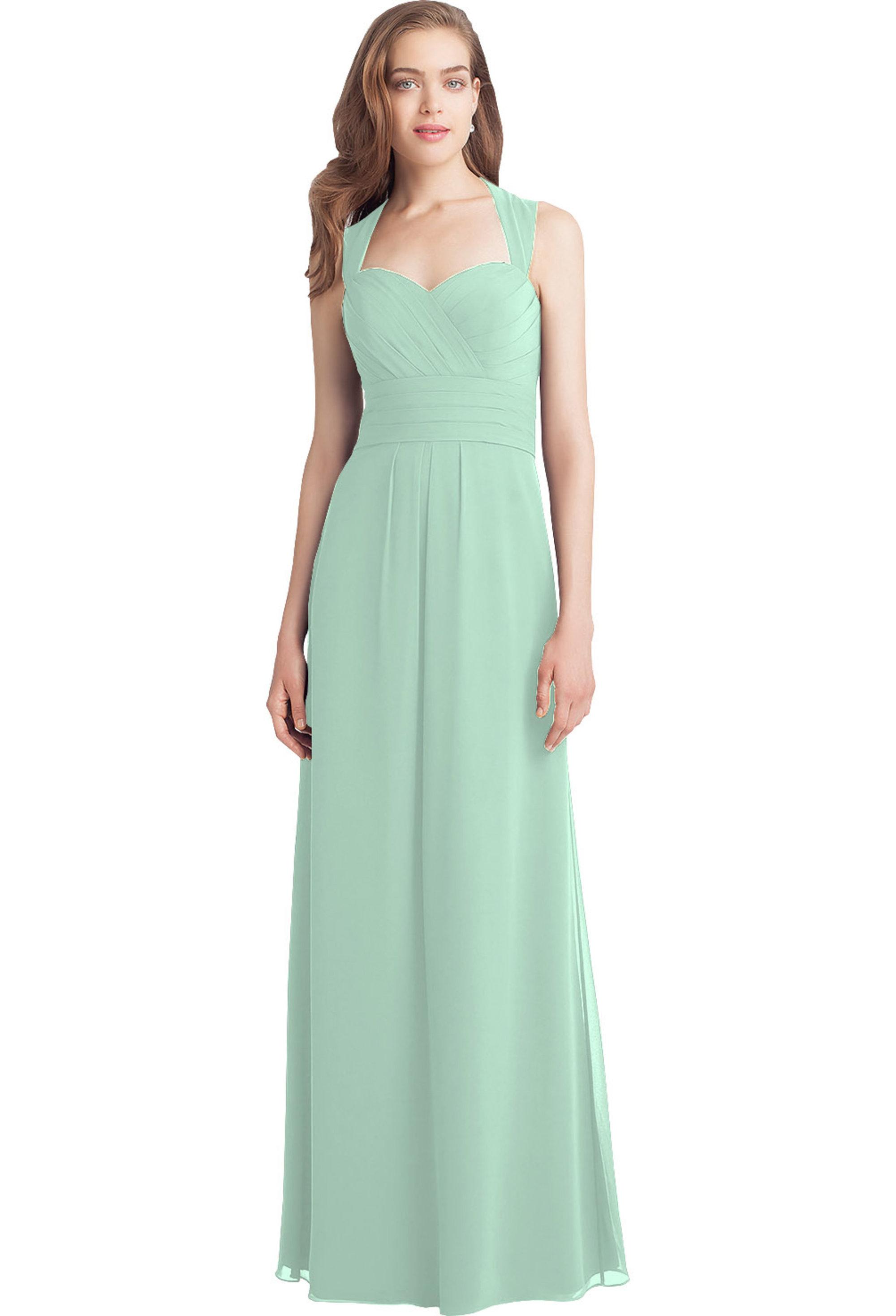 Bill Levkoff MINT Chiffon Sweetheart A-line gown, $210.00 Front