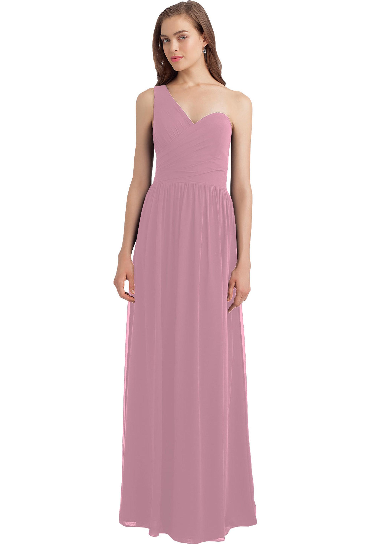 Bill Levkoff ROSEPETAL Chiffon Sweetheart A-line gown, $210.00 Front