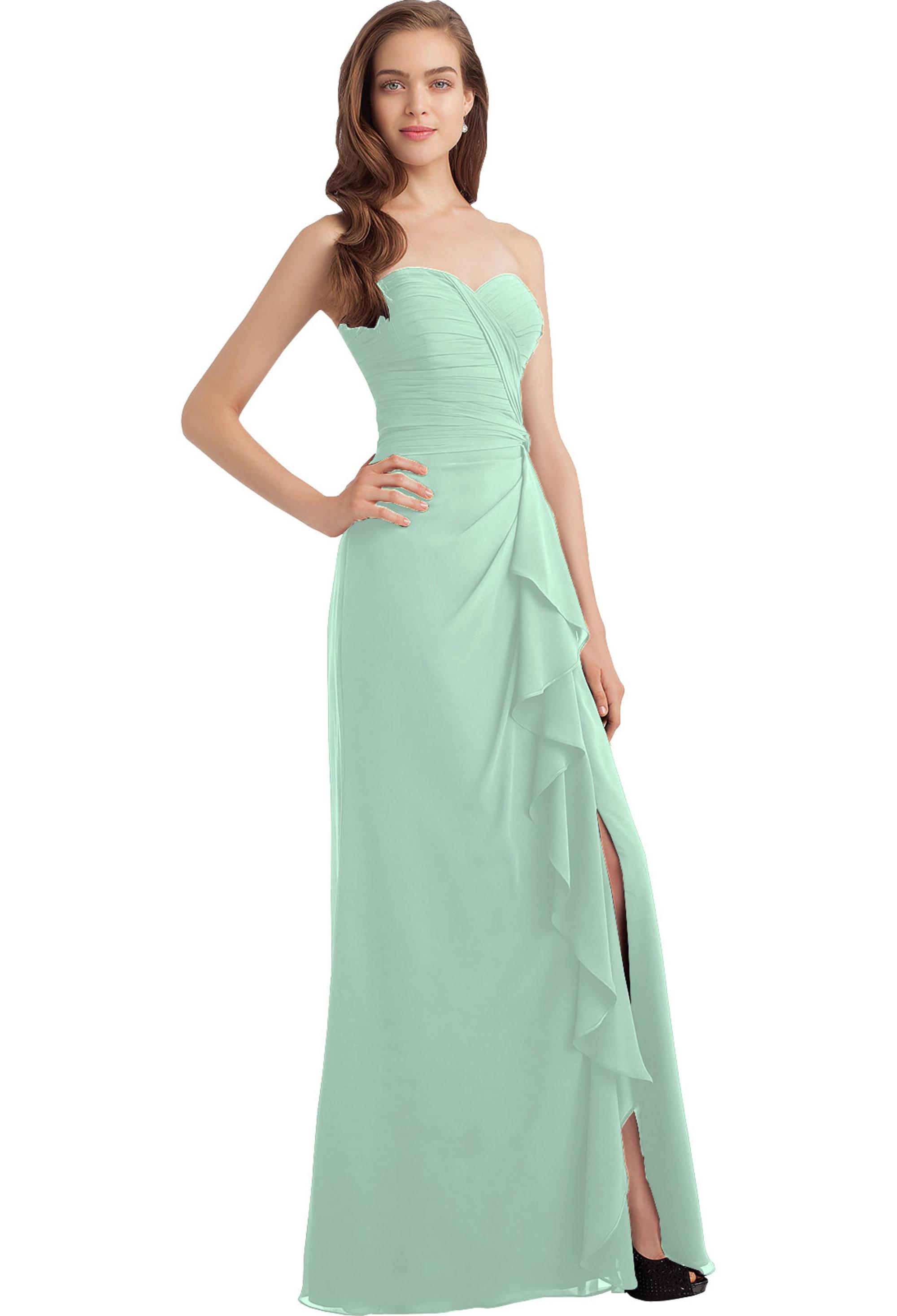 Bill Levkoff MINT Chiffon Sweetheart A-line gown, $230.00 Front