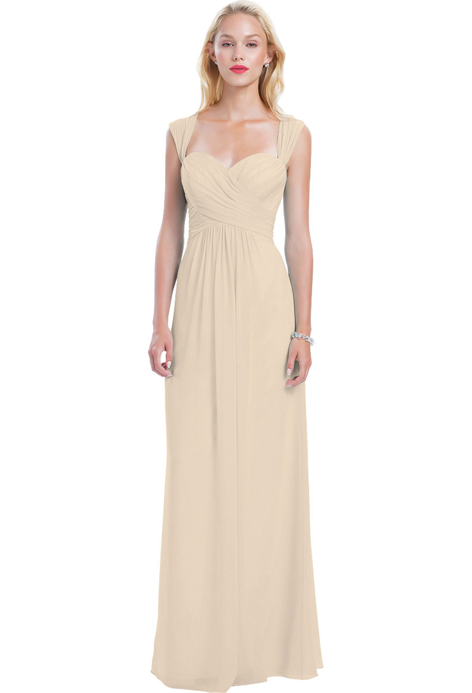 Bill Levkoff CHAMPAGNE Chiffon Sweetheart A-line gown, $210.00 Front
