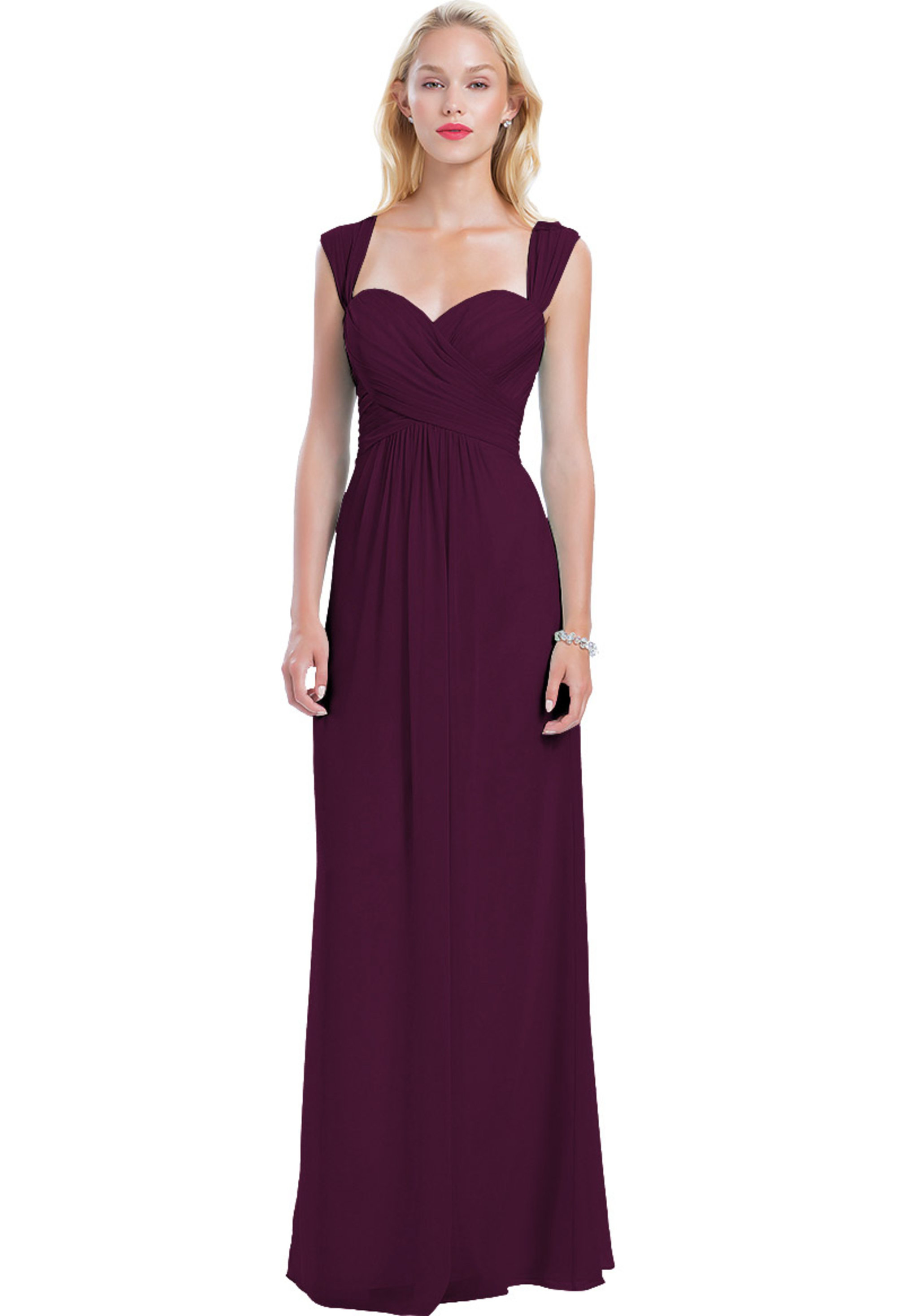 Bill Levkoff SANGRIA Chiffon Sweetheart A-line gown, $210.00 Front