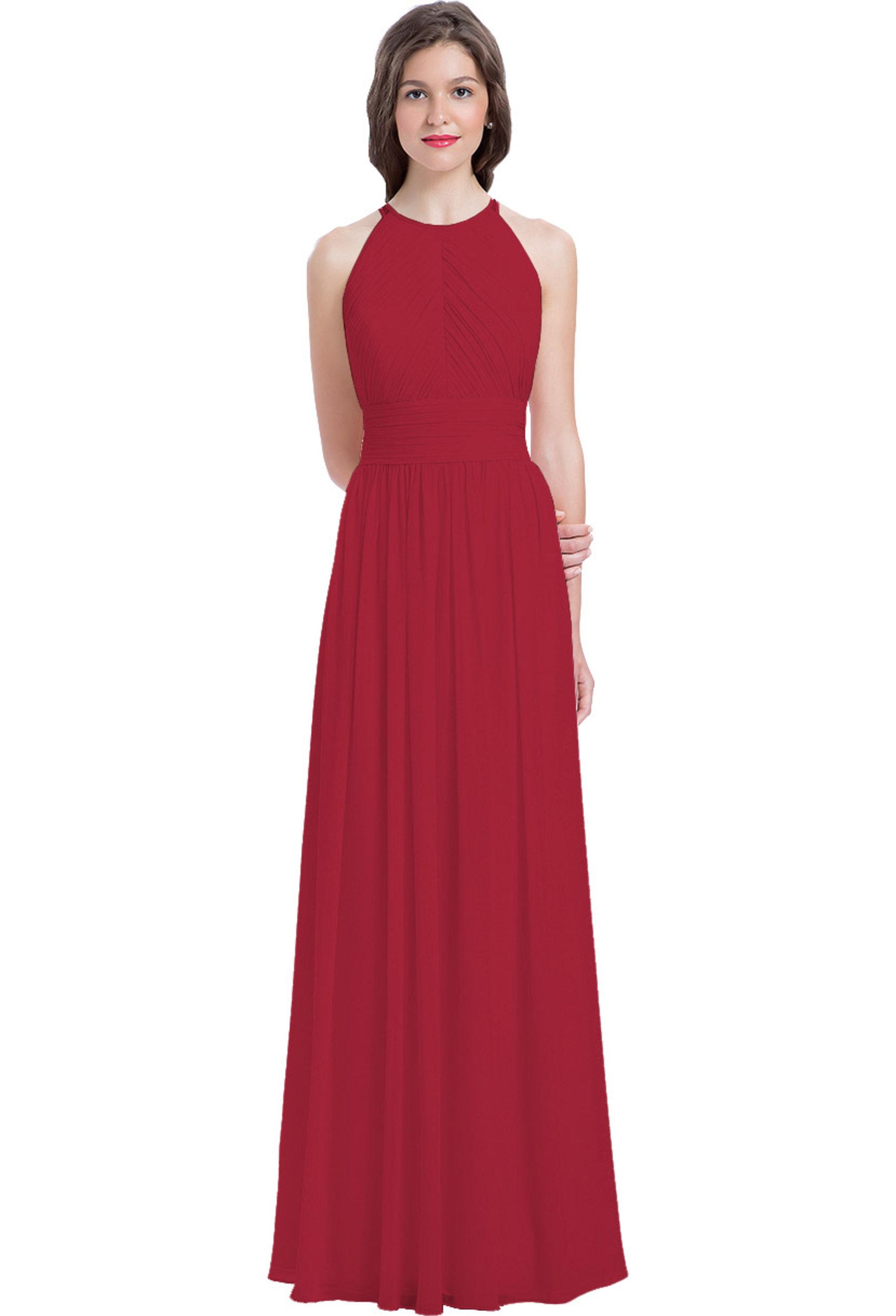 Bill Levkoff CHERRY Chiffon Sleeveless A-line gown, $240.00 Front