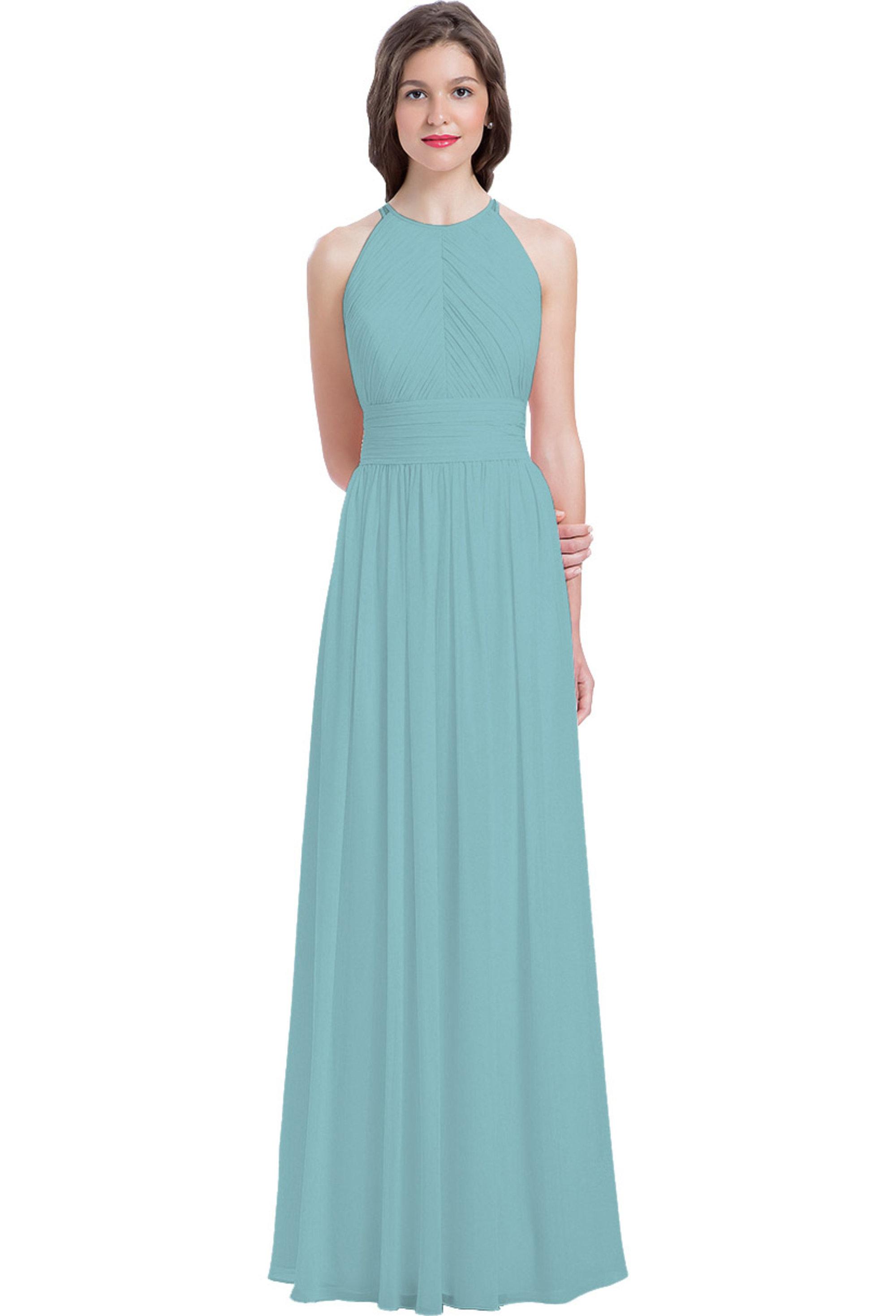 Bill Levkoff GLACIER Chiffon Sleeveless A-line gown, $240.00 Front