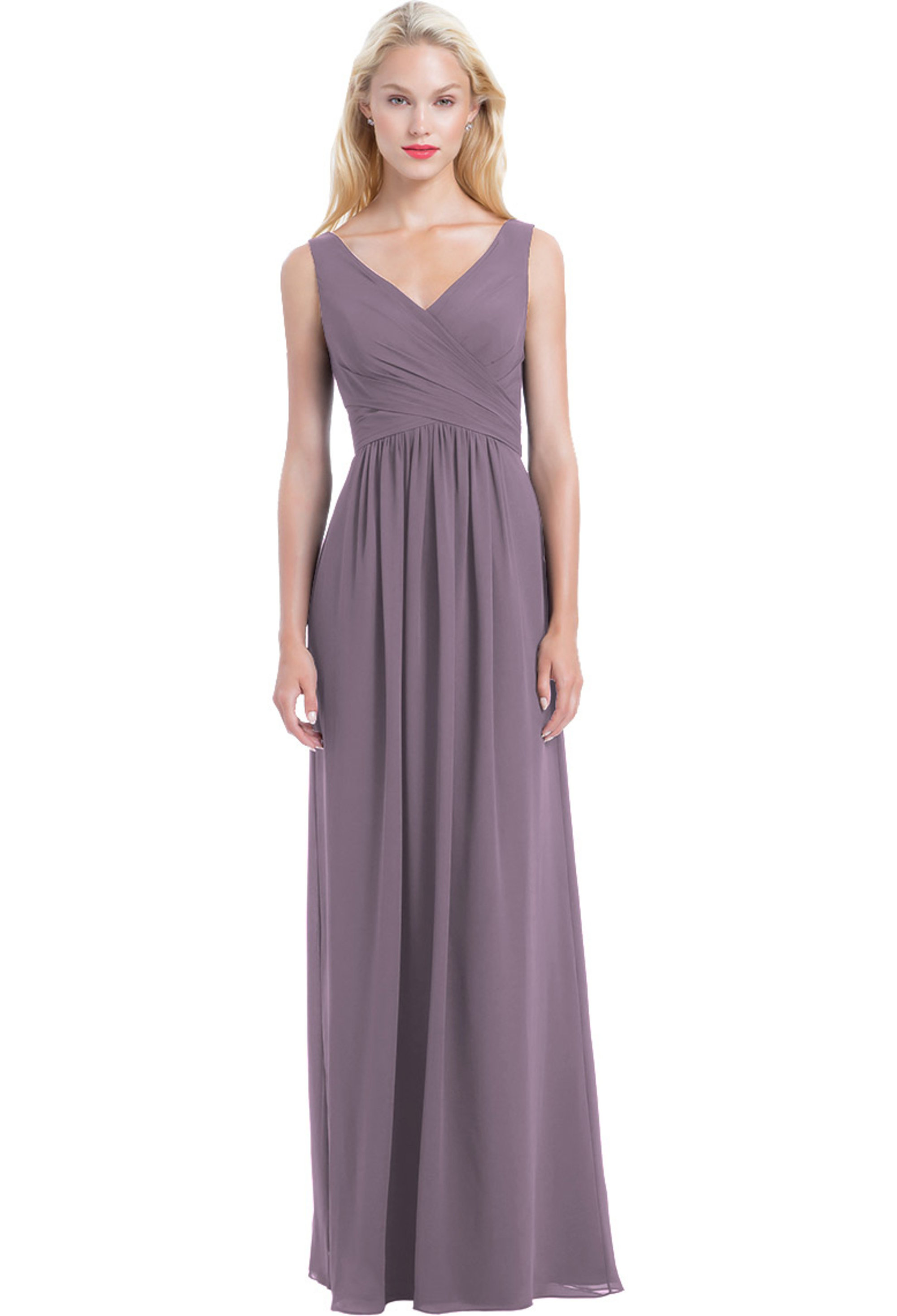 Bill Levkoff VICTORIAN LILAC Chiffon Sleeveless A-line gown, $210.00 Front